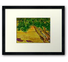 The Climbing  Tree, watercolor Framed Print