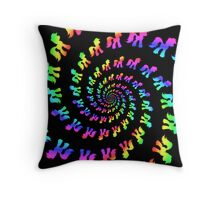 Rainbow Pony Spiral Explosion Throw Pillow