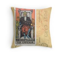 The Emperor Tarot Card Fortune Teller Throw Pillow