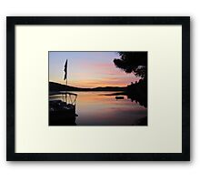 Serenity is a Boat on a Lake in Maine Framed Print