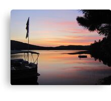 Serenity is a Boat on a Lake in Maine Canvas Print