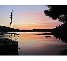 Serenity is a Boat on a Lake in Maine Photographic Print