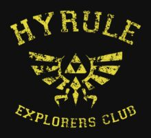 Hyrule Explorers Club Dark Kids Tee