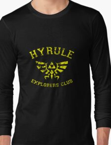 Hyrule Explorers Club Dark Long Sleeve T-Shirt