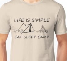 Eat. Sleep. Camp. Unisex T-Shirt