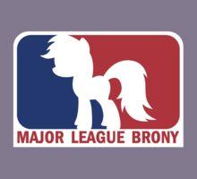 Major League Brony - Logo & Text Kids Clothes