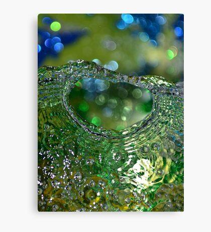 Green water circle Canvas Print