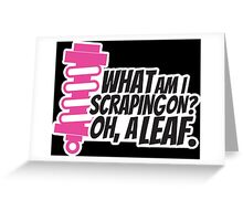 What am I scraping on? 3 Greeting Card