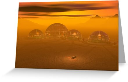 Domed city on an alien planet by Carol and Mike Werner