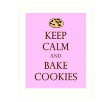 Pink Keep Calm and Bake Cookies Art Print