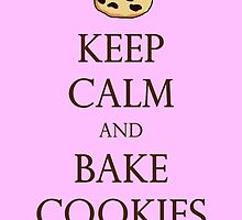 Pink Keep Calm and Bake Cookies by TheClarkes
