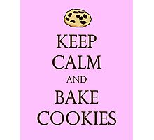 Pink Keep Calm and Bake Cookies Photographic Print