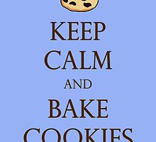 Blue Keep Calm and Bake Cookies by TheClarkes