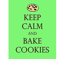 Green Keep Calm and Bake Cookies Photographic Print
