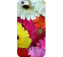 Colorful gerber flowers iPhone Case/Skin