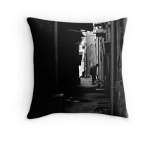 Another day, Another Alleyway Throw Pillow