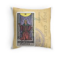 Justice Scales Tarot Card Fortune Teller Throw Pillow