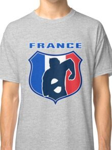 rugby player running with ball France shield Classic T-Shirt