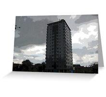 Leverton Gardens, London Road , Sheffield, UK Greeting Card