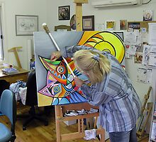 At the easel by Karin Zeller