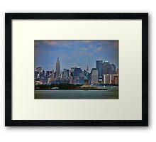 New York From Bay Framed Print