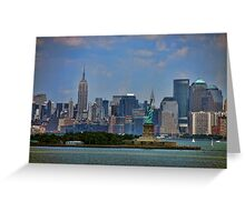 New York From Bay Greeting Card