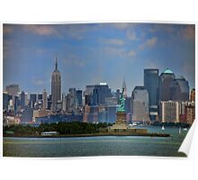 New York From Bay Poster