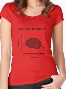 Scatter-Brained Women's Fitted Scoop T-Shirt