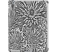 Flowers #8 In Black & White iPad Case/Skin