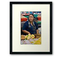 Chopping Veges  Framed Print