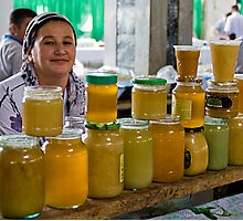Honey seller Photographic Print