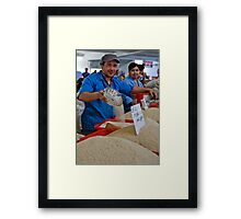 Rice man Framed Print