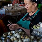 Quail eggs and technology by Gillian Anderson LAPS, AFIAP