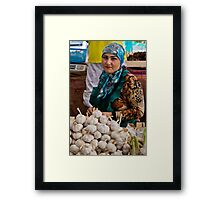 Garlic seller Framed Print