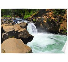 McCloud River Falls, Lower Cascade Poster