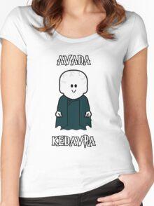 "Weenicons: Harry Potter - Voldemort ""Avada Kedavra"" Women's Fitted Scoop T-Shirt"