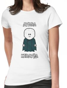 """Weenicons: Harry Potter - Voldemort """"Avada Kedavra"""" Womens Fitted T-Shirt"""