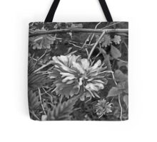 Floral #10 in Black & White Tote Bag
