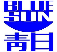 Blue Sun Corporate Logo Photographic Print