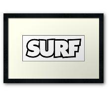 SURF Framed Print