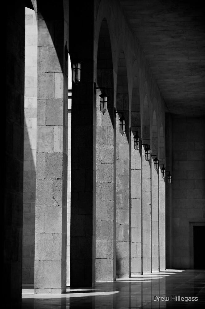 Bahrain Mosque Hallway by Drew Hillegass