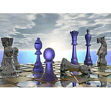 Early Morning Chess Photographic Print