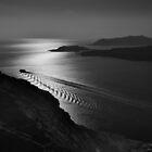 Leaving Santorini by Peter Hammer