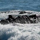 Black Rock and Blue Ocean by Sherry Hallemeier