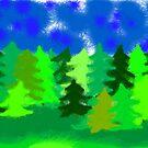 forrest panorama by rainbowvortex