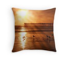 Pismo Beach with post photoshop adjustment Throw Pillow