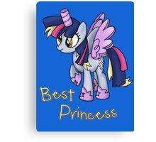 My Little Pony - MLP - Derpy is Best Princess Canvas Print