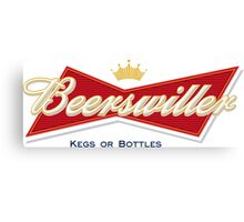 Beerswiller Funny Parody Logo Canvas Print