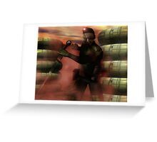 Xuvian Commando Greeting Card
