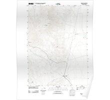 USGS Topo Map Oregon Fields 20110818 TM Poster
